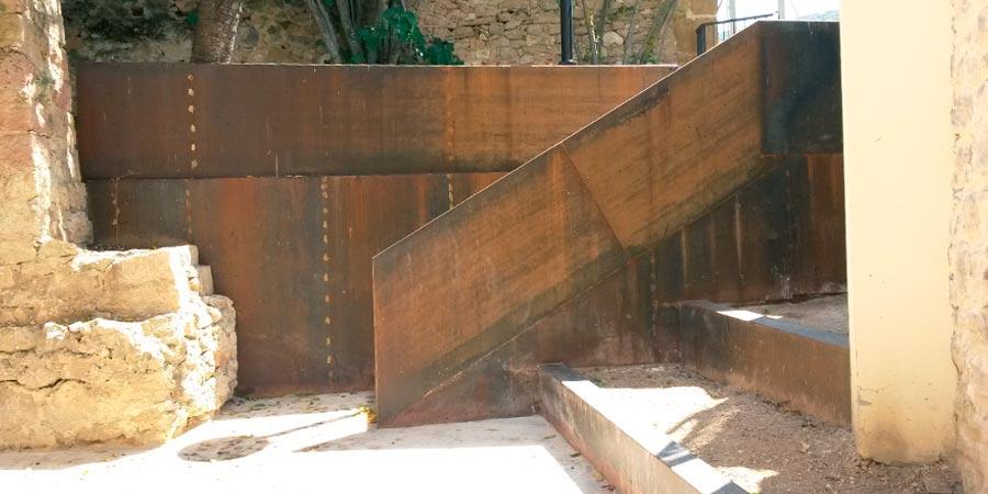 Acero corten arte metal for Acero corten perforado oxidado